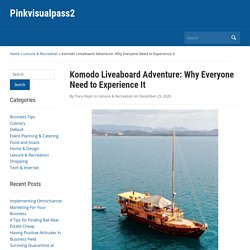 Komodo Liveaboard Adventure: Why Everyone Need to Experience It