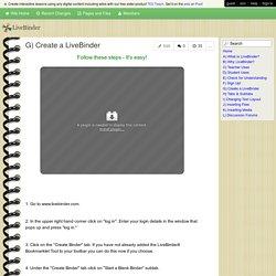 LiveBinder - G) Create a LiveBinder