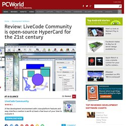 Review: LiveCode Community is open-source HyperCard for the 21st century