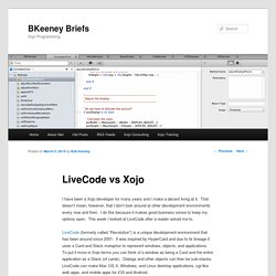 LiveCode vs Xojo