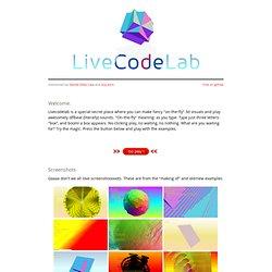 Livecodelab: Tutoriel en ligne