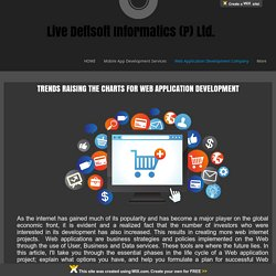 TRENDS RAISING THE CHARTS FOR WEB APPLICATION DEVELOPMENT