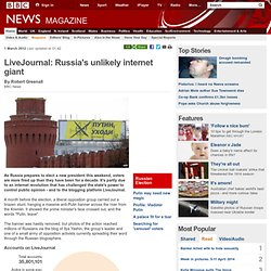 LiveJournal: Russia's unlikely internet giant