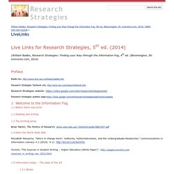 LiveLinks - Research Strategies