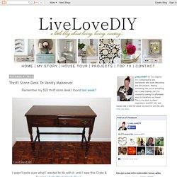 Thrift Store Desk To Vanity Makeover