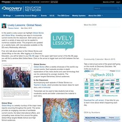 Lively Lessons: Global News