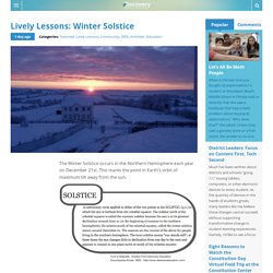 Lively Lessons: Winter Solstice
