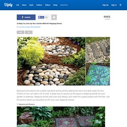 13 Ways To Liven Up Your Garden With DIY Stepping Stones