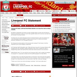 Liverpool FC Statement