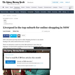 Liverpool is the top suburb for online shopping in NSW