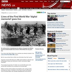 Lives of the First World War 'digital memorial' goes live