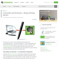 Livescribe and Evernote – Keeps Getting Better!