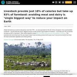 Livestock provide just 18% of calories but take up 83% of farmland: avoiding meat and dairy is 'single biggest way' to reduce your impact on Earth - The Global Catholic Climate Movement : The Global Catholic Climate Movement
