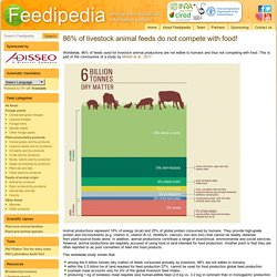 86% of livestock animal feeds do not compete with food!