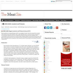 MEAT SITE 12/09/14 USDA GAIN: Egypt Livestock and Products Annual 2014