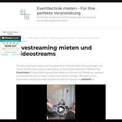 Livestream mieten