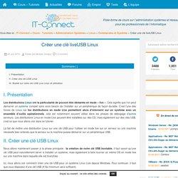 Créer une clé liveUSB Linux