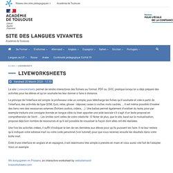 Site des langues vivantes