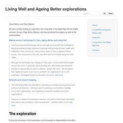 Living Well and Ageing Better explorations