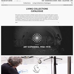 Living Collections Catalogue — Collections