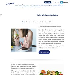 Living Well with Diabetes - Ensure® India