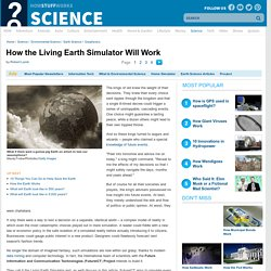 How the Living Earth Simulator Will Work""