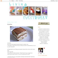 Living Eventfully: tiramisu