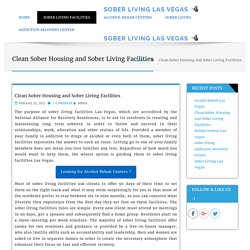 From Rehab to a Sober Living Facilities las vegas Why Take the Next Step?