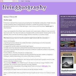 Living Geography: Twalter-egos
