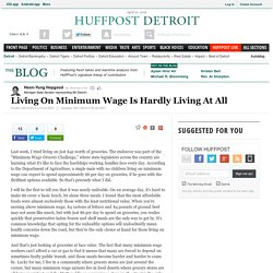 Living On Minimum Wage Is Hardly Living At All