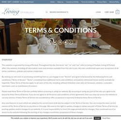 Living of Porlock Terms and Conditions Living