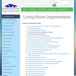 Living Room Improvement | Free DIY Home Improvement