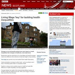 Living Wage 'key' for tackling health inequalities