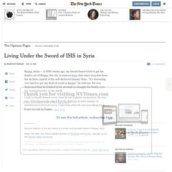 Living Under the Sword of ISIS in Syria