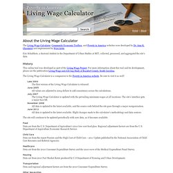 About the Living Wage Calculator
