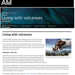 Living with volcanoes - What's on
