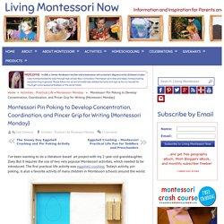 Montessori Pin Poking to Develop Concentration, Coordination, and Pincer Grip for Writing {Montessori Monday} - LivingMontessoriNow.com
