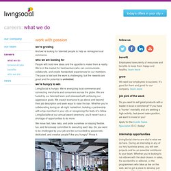 Join the LivingSocial Team - Careers