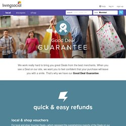 LivingSocial's Good Deal Guarantee - LivingSocial