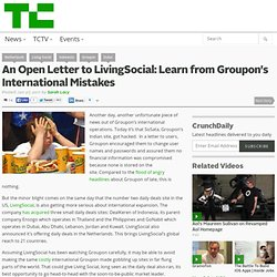 An Open Letter to LivingSocial: Learn from Groupon's International Mistakes
