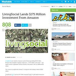 LivingSocial Lands $175 Million Investment From Amazon
