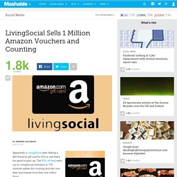 LivingSocial Sells 1 Million Amazon Vouchers and Counting