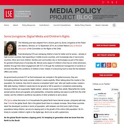 Sonia Livingstone: Digital Media and Children's Rights