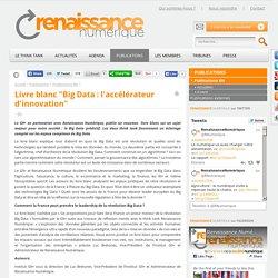 """Livre blanc """"Big Data : l'accélérateur d'innovation"""""""