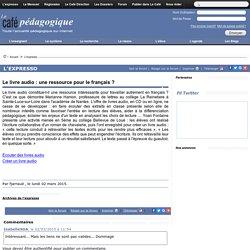Le livre audio : une ressource pour le français ?