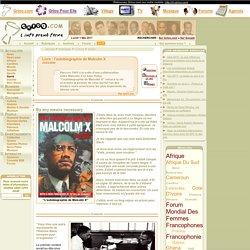 Livre : l'autobiographie de Malcolm X