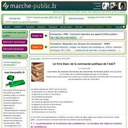 AACT Le livre blanc de la commande publique