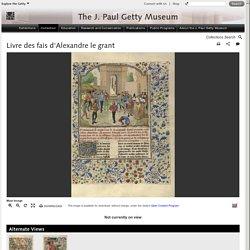 Livre des fais d'Alexandre le grant