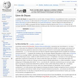 Livre de Dzyan