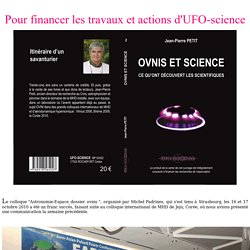 Un livre pour financer les actions d'UFO-science